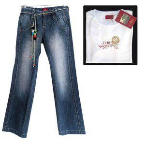 French Designer Chipie Girls Jeans size 12